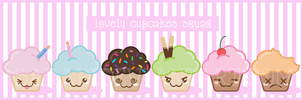 Lovely Cupcakes Squad by SaraDJ