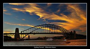 Sydney Sunset by FireflyPhotosAust
