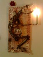 Jackalope with candle by GhostyBoo