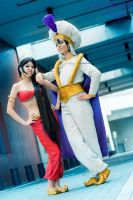 Aladdin and Jasmine by YoukaiYuurei