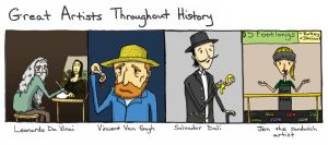 Great Artists in History by JAKtheTerrible