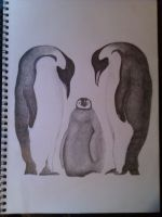 Penguin drawing by A6ft5Ninja