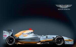 Gulf Aston Martin F1 by ShinjiRHCP