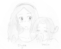 Elyse and Italy by AshAngel899