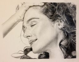 Pencil portrait of Rachel Weisz by chaseroflight