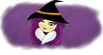 Halloween Theme: Purple Witch by sarahlouiseghost