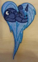 Princess Luna Embroidered Heart by EthePony