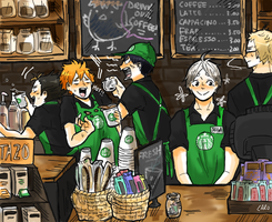 Haikyuu!! Coffee Shop by a-zebra-was-here
