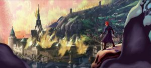 Arendelle in Flames by evelynmckay