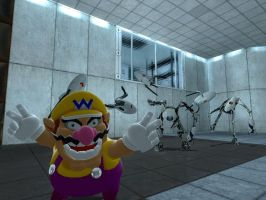 Wario in Portal by JJsonicblast86
