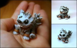 WoW Inspired Frostwolf Pup by Euphyley