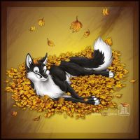 Autumn Fox by TaniDaReal