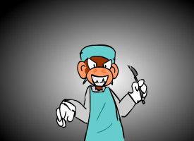 Surgeon monkey by maneco