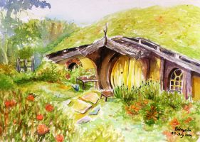 Hobbit House by puddingnila