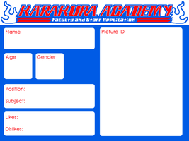 Karakura Academy - Faculty and Staff Application by amber-sky