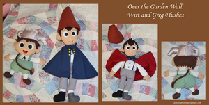 OtGW:  Wirt and Greg Plushes by DonutTyphoon