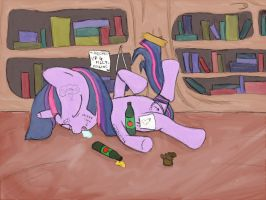 Passed out Twilight by dennyhooves