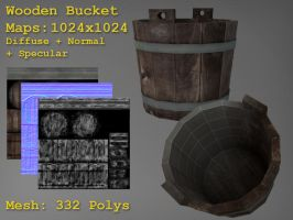 Free Wooden_Bucket by Malode