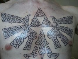 Hylian Crest Tattoo Phase 1 by EvilNelo
