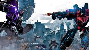 transformers war for cybertron watercolor enhanced by Nick004
