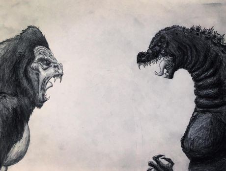 King Kong vs. Godzilla Drawing. by Kongzilla2010