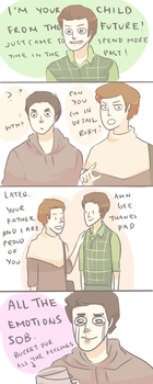 KLAINE: CHILD FROM THE FUTURE by Randomsplashes
