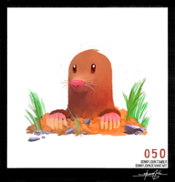 Diglett! Pokemon One a Day! by BonnyJohn