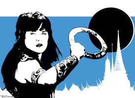 Xena dark Eclipse by Tom Kelly by TomKellyART