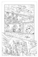 Avengers: EMH # 6 - page 1 pencils by TimLevins