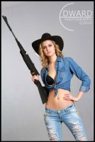Cowgirl with a rifle by Edward-Photography
