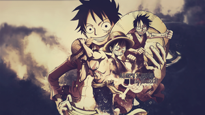 Monkey D. Luffy Wallpaper by dani17k