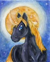 Black Unicorn by Starrydance