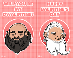 The Hobbit - Valentines by Algrenion