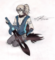 Ouji the swords man by srs17