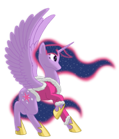 Twilight in Snow Cloths - No Background by NebulaStar985