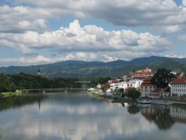 The river Drava by Crusadier