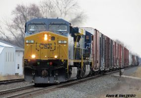 Fresh paint on CSX # 86 leading Q233 by EternalFlame1891