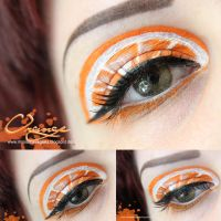 Orange Makeup by MissVonXtravaganz