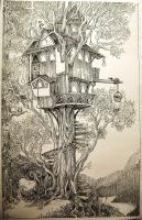 Treehouse by eralastiel