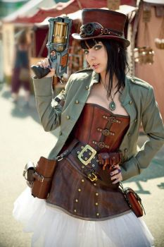 Steampunk-Lady 2 by Leder-Joe