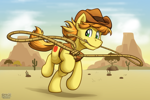 Braeburn and His Lasso by BuizelCream