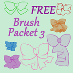 [FREE] Bow Brushes 3 by SparklingChii