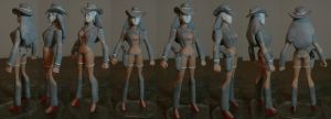 Wonder Woman W4 turnaround by GeekVarietyDotCom
