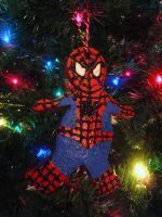 Gingerbread Spider-Man Ornament by brodiehbrockie