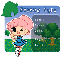 Animal Crossing Friend Info by Majichu
