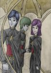 The Three Candidates (colored) by cinemaniacojean