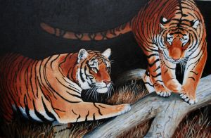 Tigers by PaintedKelpie