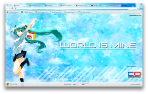 Hatsune Miku: Google Chrome Theme 2 by CardOtaku