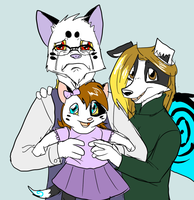 Family Photo (aka) I am a monster by Metal-Kitty