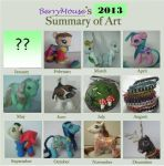 My little Pony Customs - Year 2013 in review by BerryMouse